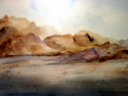 Desert Landscape: watercolor